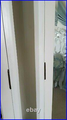 French style antique white colour double mirrored armoire/wardrobe