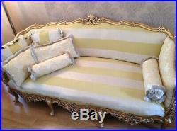 Genuine Antique Gorgeous French Rococo Sofa Settee