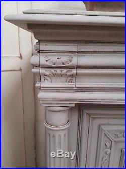 Gorgeous Antique French Carved Painted Sideboard C1900