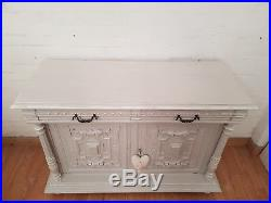 Gorgeous Antique French Carved Painted Walnut Sideboard C1900