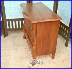Gorgeous Bijou French Vintage Oak Chest Of Drawers / French Oak Bedside Chest