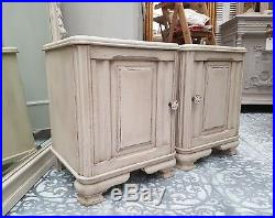 Gorgeous Pair Of Antique French Oak Bedside Cabinets C1940