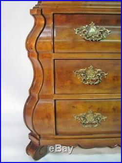 High-End Henredon Country French Style Armoire With Bombe 3 Drawer Base