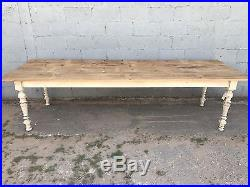 Huge, 3.2m Long, French Antique Farmhouse Table, Oak, Vintage