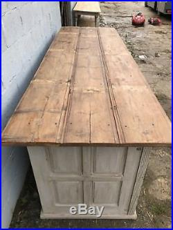 Huge 3m, 19thC French Antique Cupboard/counter, Double Sided, Rare, Original