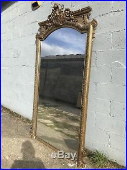Huge 8.5ft, Antique French Mirror, Mega Rare, Early 1800s, Vintage