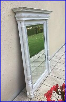 Huge Antique French Mirror Painted Walnut Stunning C1900 FREE DELIVERY