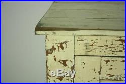 Huge Vintage French Painted Cupboard / Shop Fitting Haberdashery #2145