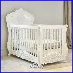 IN STOCK Rococo Itailian / French hand carved cot bed Hand made in Kent