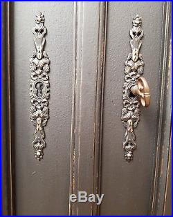 Imposing Antique French Solid Walnut Armoire C1880