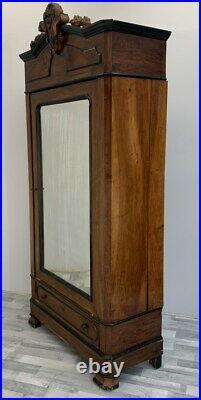 Impressive Antique French Armoire Wardrobe with mirror