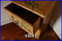 Indira Solid Mahogany 3 Drawer Bedside Chest Hand Painted Antique French Oak