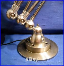 Jielde Beautiful French Industrial Jielde Lamp 5 Arms Polished Bright Steel