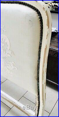 LOVELY 19th CENTURY FRENCH DOUBLE BED ORIGINAL PAINT C1900