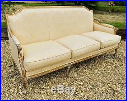 LOVELY 20th CENTURY FRENCH UPHOLSTERED 3 SEATER SOFA, C1940