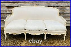LOVELY ANTIQUE 19th CENTURY FRENCH 3 SEATER SOFA ORIGINAL PAINT, C1900