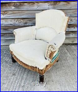 LOVELY ANTIQUE 19th CENTURY FRENCH DECONSTRUCTED ARMCHAIR, C1900