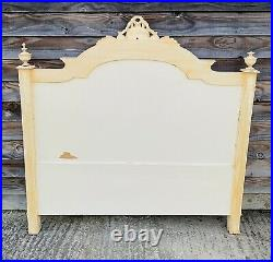LOVELY ANTIQUE 19th CENTURY FRENCH MAHOGANY UPHOLSTERED DOUBLE BED C1900