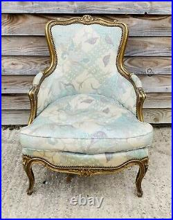 LOVELY ANTIQUE 19th CENTURY FRENCH UPHOLSTERED ARMCHAIR, C1900