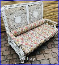 LOVELY ANTIQUE FRENCH 19th CENTURY FRENCH 2 SEATER CANED SOFA, C1900