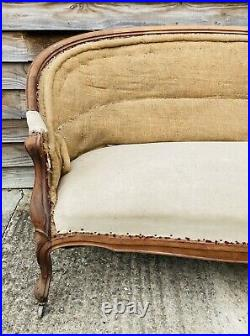 LOVELY FRENCH ANTIQUE 19th CENTURY NAPOLEON III TWO SEATER SOFA, C1900