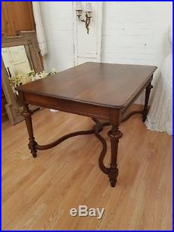 Large Antique French Solid Oak Table C1900