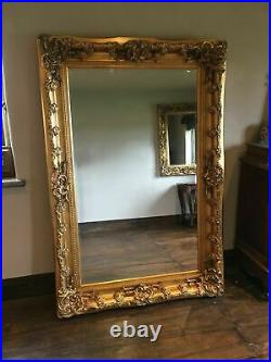 Large Antique Gold Ornate French Statement Floor Leaner Dress Wall Mirror 6ft
