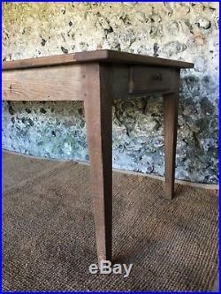Large Antique Provincial French Farmhouse Oak Dining Kitchen Table Vintage