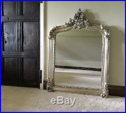 Large Antique Silver French Ornate Over Mantle Swept