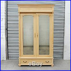Large Antique decorative french 2 door Painted Armoire in french cream