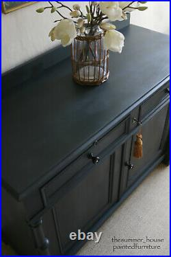 Large Early Edwardian French Mahogany Painted Sideboard Cupboard Storage Server