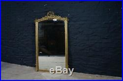 Large French 19thC Napoleon III Gilt Framed Mirror Floor Standing or Over Mantle
