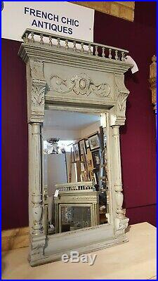 Large French Antique Mirror(duck Egg Blue)