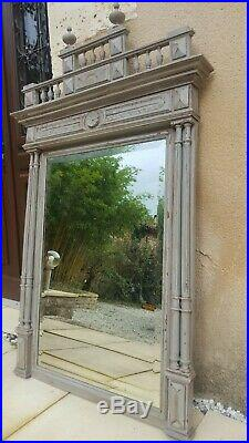 Large French Antique Mirror(grey)