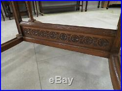 Large French Antique Oak Extending Dining Table 100'