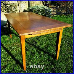 Large French Cherrywood & Oak Extending Farmhouse Country Dining Table 7'7