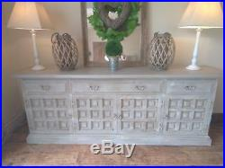Large French, grey, rustic, distressed sideboard/dresser
