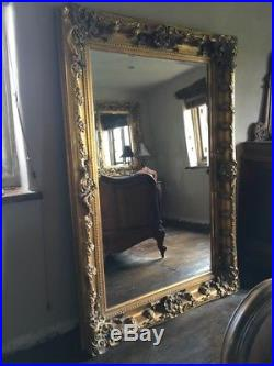 Large Huge Wood Antique Gold Gilt Dress French Chic Leaner Mirror 7ft X 4ft