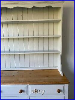 Large Solid Pine Antique Welsh Dresser painted in Farrow & Ball French Gray