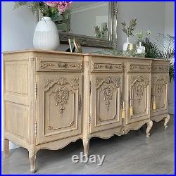 Large Vintage French Carved Oak Sideboard