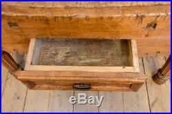 Large antique French butcher's block