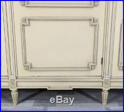 Louis XVI Style Vintage French Carved 3 door shabby chic Armoire Wardrobe