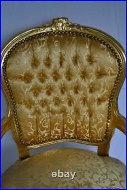 Louis XV Arm Chair French Style Vintage Furniture Gold