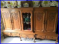 Louis XV French Style Sideboard/Bookcase
