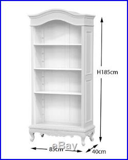 Louis XV Mahogany 3 Shelf bookcase painted in French White