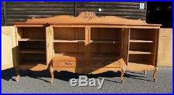 Louis XV Style French Carved Oak Large 4 Door Sideboard (con1008)