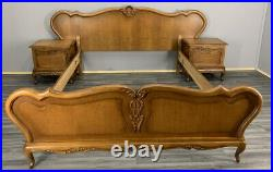 Louis XV Style French Double Bed with bedside tables