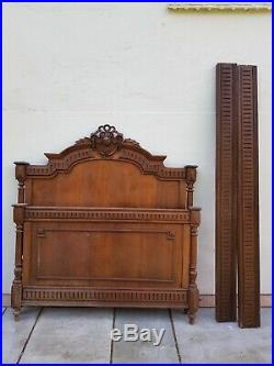 Louis XV Style French Oak Small Double Bed Surround in great condition