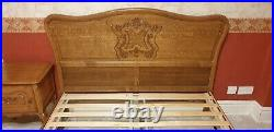 Louis XV Style French carved king size bed &base