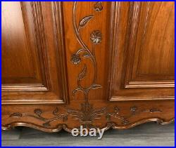 Louis XV Style Vintage French Carved 2 door Armoire Wardrobe